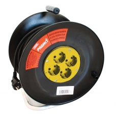 Удлинитель на катушке РАДИСТ РБК16-270-005, 4 розетки с заземлением, 50 м, 3х1,5 мм, 2200 Вт, 2395