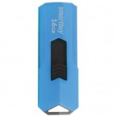 Флэш-диск 16 GB SMARTBUY Stream USB 2.0, синий, SB16GBST-B