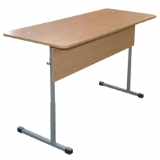 Стол-парта 2-местный регулируемый 'Бюджет', 1200х500х520-640 мм, рост 2-4, серый каркас, ЛДСП бук