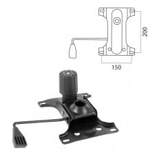 Механизм качания для кресла, 'Top-Gun', межцентровое расстояние крепежа 150х200 мм