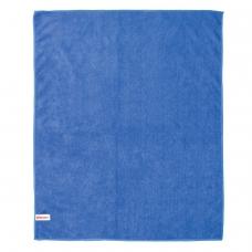 Тряпка для мытья пола, плотная микрофибра, 70х80 см, синяя, ЛАЙМА, 601250