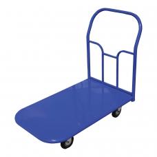 Тележка грузовая платформенная 4-х колесная ТП2 грузоподъемность - 350 кг, колеса на литой резине D=125 мм