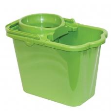 Ведро 9,5 л, с отжимом сетчатый, пластиковое, цвет зеленый, моп 602584, -585, IDEA, М 2421