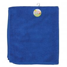 Тряпки для мытья пола, КОМПЛЕКТ 3 шт., микрофибра, 50х60 см, синие, ЛЮБАША ЭКОНОМ, 603944