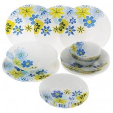 Набор столовый, 25 предметов суповые, обеденные, десертные тарелки, 'Workshop Spring', PASABAHCE, 95665УБ