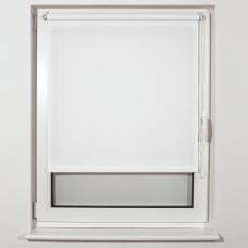 Штора рулонная светопроницаемая BRABIX 55х175 см, текстура 'Лён', белый, 605980