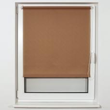 Штора рулонная светопроницаемая BRABIX 55х175 см, текстура 'Лён', темно-бежевый, 605981