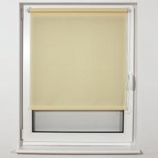 Штора рулонная светопроницаемая BRABIX 80х175 см, текстура 'Лён', кремовый, 605993