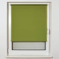 Штора рулонная светопроницаемая BRABIX 80х175 см, текстура 'Лён', зелёный, 605994