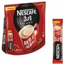 Кофе растворимый NESCAFE '3 в 1 Классик', 20 пакетиков по 16 г упаковка 320 г, 12235512