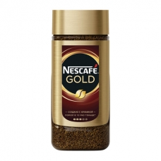 Кофе молотый в растворимом NESCAFE Нескафе 'Gold', сублимированный, 95 г, стеклянная банка, 12135507
