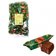 Конфеты шоколадные БАБАЕВСКИЙ 'Белочка', 1000 г, пакет, ББ11385