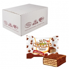Конфеты шоколадные РОТ ФРОНТ 'Коровка', вафельные с шоколадной начинкой, весовые, 2 кг, гофрокороб, РФ17636