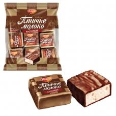 Конфеты шоколадные РОТ ФРОНТ 'Птичье молоко', суфле, сливочно-ванильные, 225 г, пакет, РФ09922