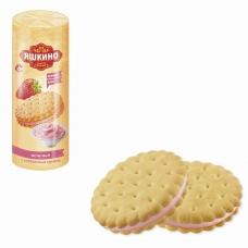 Печенье ЯШКИНО 'С клубничным кремом', затяжное, 182 г, МП428