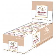 Шоколад порционный МОНЕТНЫЙ ДВОР, молочный шоколад 42%, 96 плиток по 5 г, в шоубоксах, 508