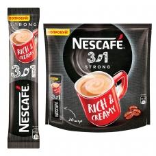 Кофе растворимый NESCAFE '3 в 1 Крепкий', 20 пакетиков по 16 г упаковка 320 г, 12235512