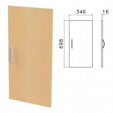 Дверь ЛДСП низкая 'Канц', 346х16х698 мм, цвет бук невский, ДК32.10