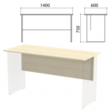 Столешница, царга стола письменного 'Канц' 1400х600х750 мм, цвет дуб молочный, СК21.15.1